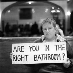 are you in the right bathroom